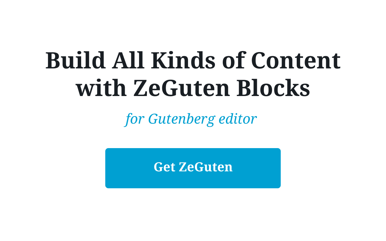 ZeGuten — Blocks for Gutenberg - 9